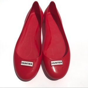 Hunter Romilly Red Jelly Ballet Flats